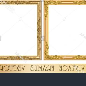 Square Gold Frame Vector PNG: Square Gold Frame Pictures Images