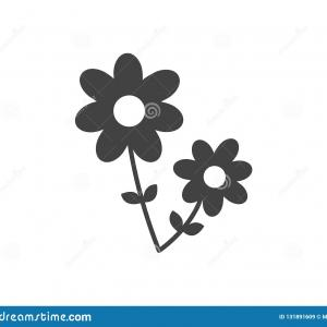 Flower Icon Stock Vector: Set Flower Icons Set Vector Flower Icons Colourful Flat Style Isolated White Background Image