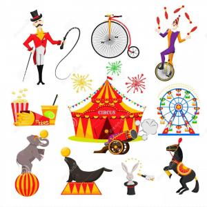 Artwork Vector T-Shirt Circus Theme: Artwork Vector T Shirt Circus Theme