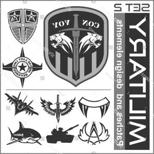 Peace Symbol Vector Tactical: Set Military Patches Logos Badges Design