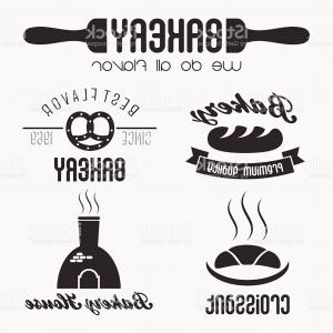Logo Elements Vector: Set Of Bakery Shop Logo Elements Design Gm
