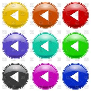 Buttons Vector Art: Set Of Colorful Play Buttons Vector Clipart