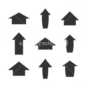 Gray Arrows Vector Art Graphics: Set Of Gray Arrows Isolated On White Background Vector Illustration Sfcumazjggaznka