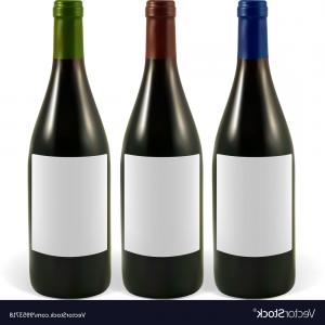 Wine Bottle Vector Illustration: Abstract Wine Bottle Drawing Abstract Wine Bottle Vector Illustration Stock Vector Royalty Free