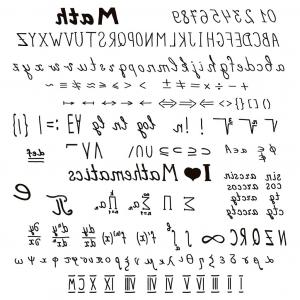 Mathematica Vector Notation: Set Symbol Math Big Set Of Hand Drawn Mathematical Signs And Symbols And Alphabet Roman Illustration Vector By Empty Set Symbol Math