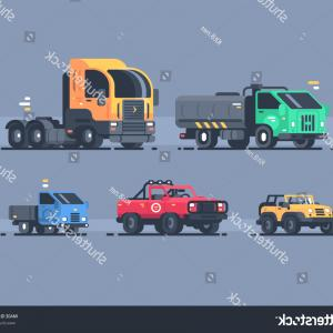 Cargo Trailer Vector: Set Types Cars Suv Cargo Trailer