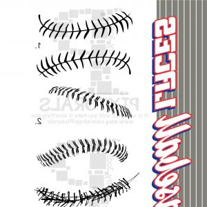 Basketball Seams Vector Clip Art: Sets Of Baseball Softball Laces Png