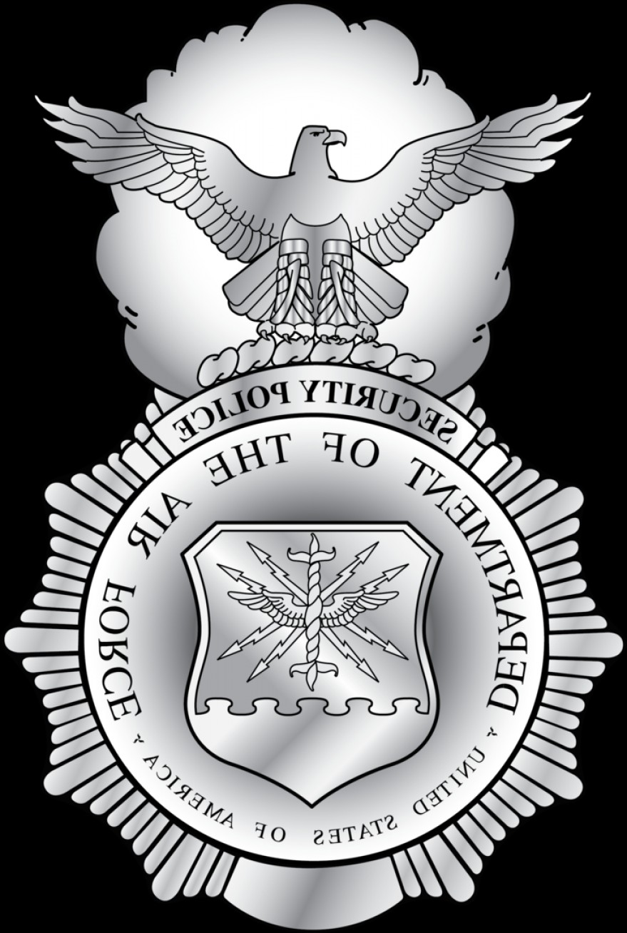 USAF Vector: Shaded U S A F Security Forces Badge