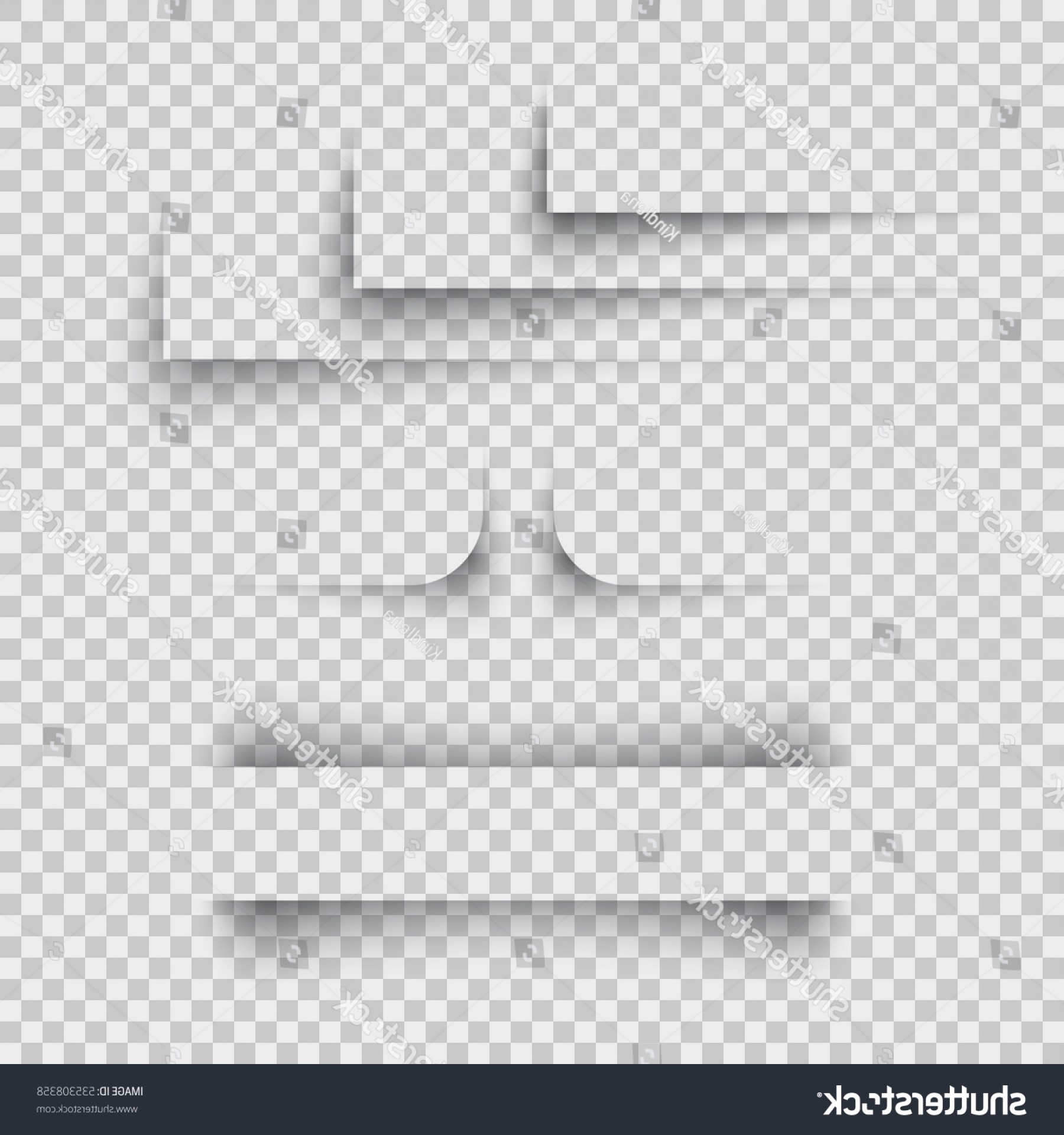 Vector Line Dividers Transparent Backgrounds: Shadow Paper Shapes Set Isolated On