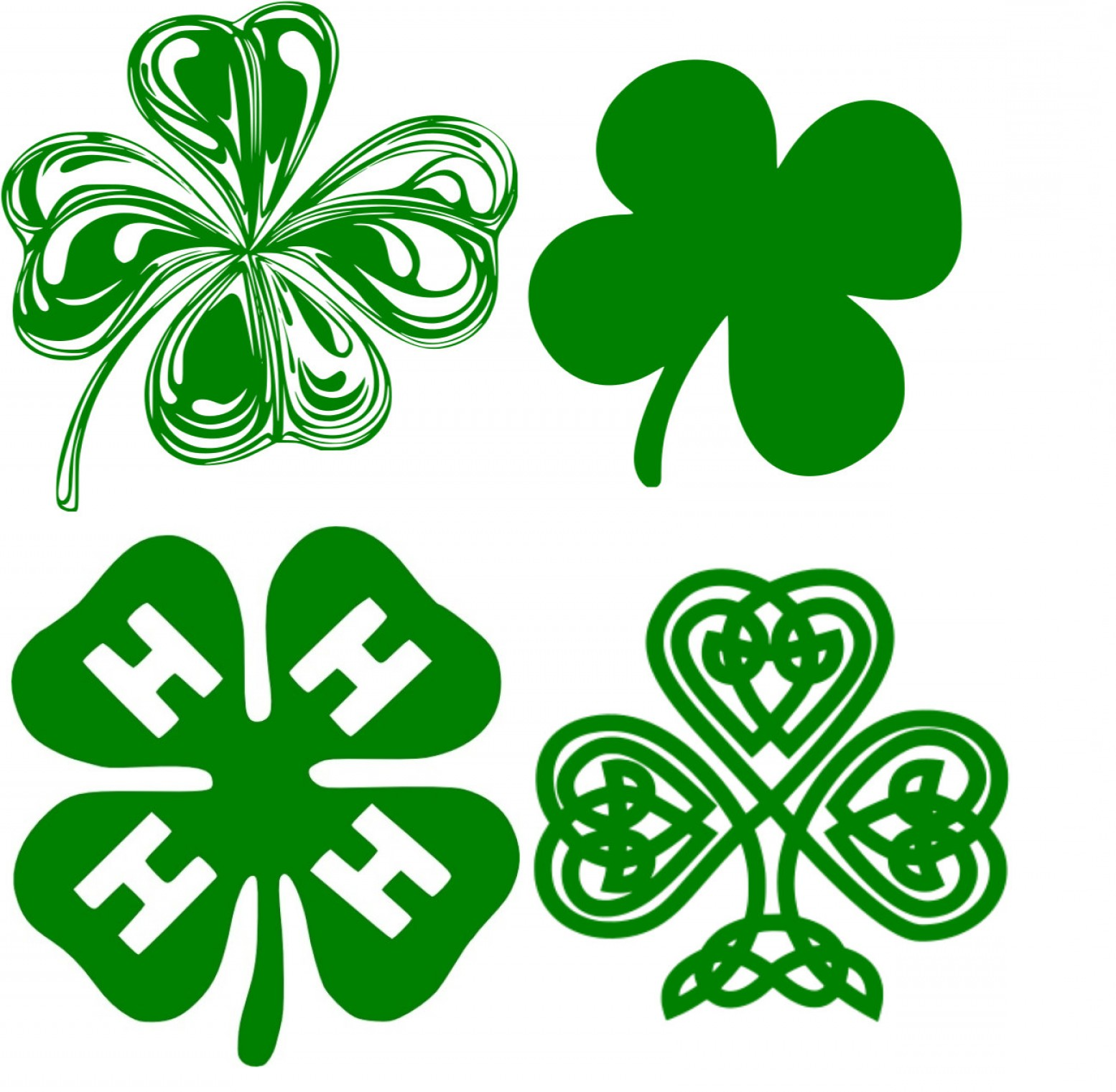 Neon Green Softball Stitches Vector: Shamrock Set Of St Patricks Day H