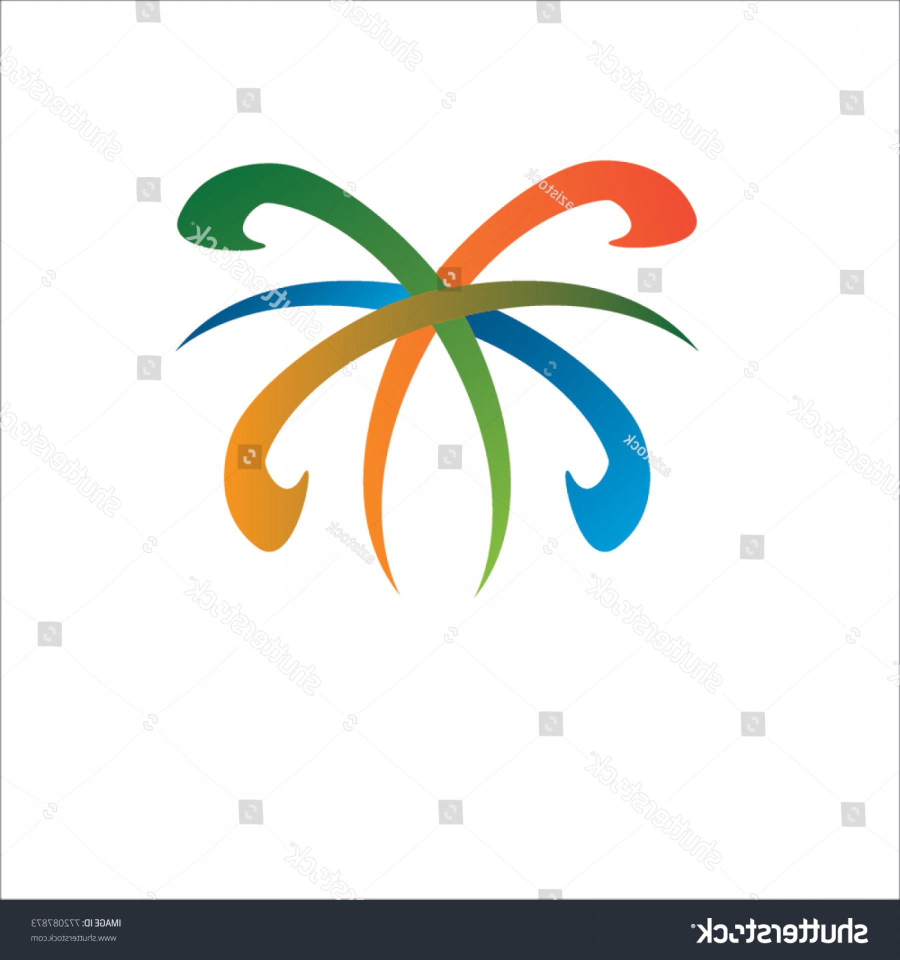 Butterfly Vector Logo: Shape Abstract Butterfly Vector Logo Design