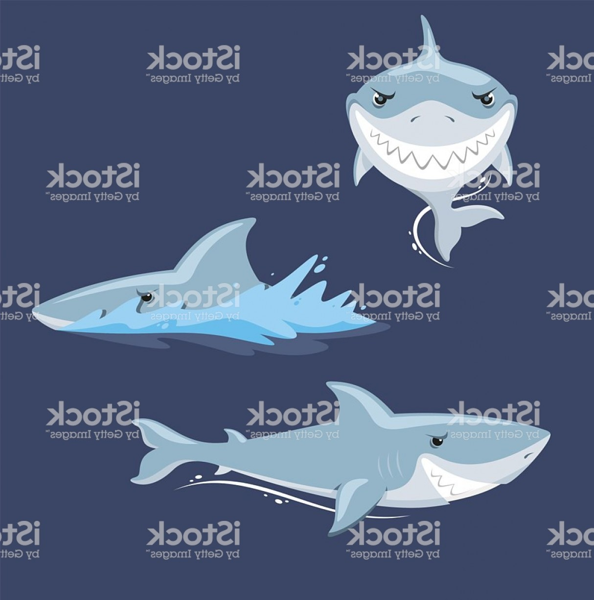 Bull Shark Jaws Vector Art: Shark Attack Jaw Teeth Mad Furious View Gm