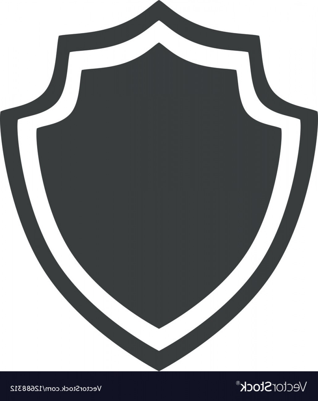 White Shield Vector: Shield Protection Insignia Security Badge Icon Vector