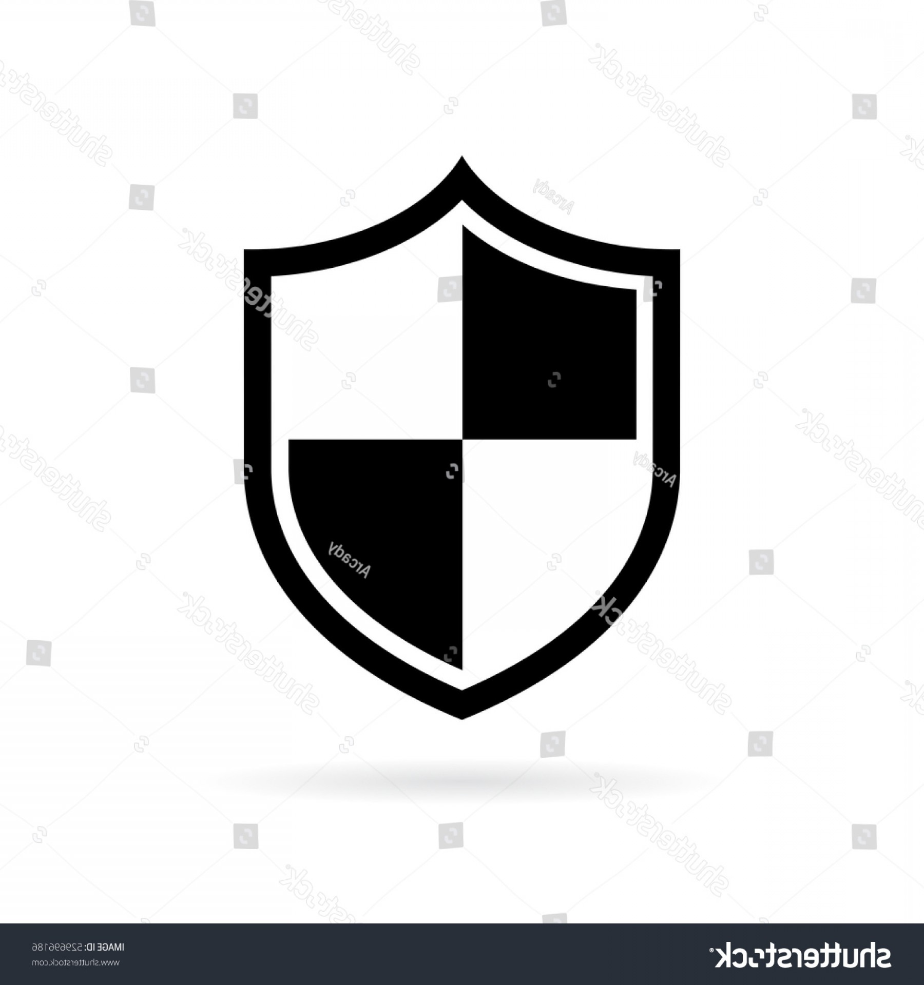 White Shield Vector: Shield Vector Secure Pictogram Illustration Isolated