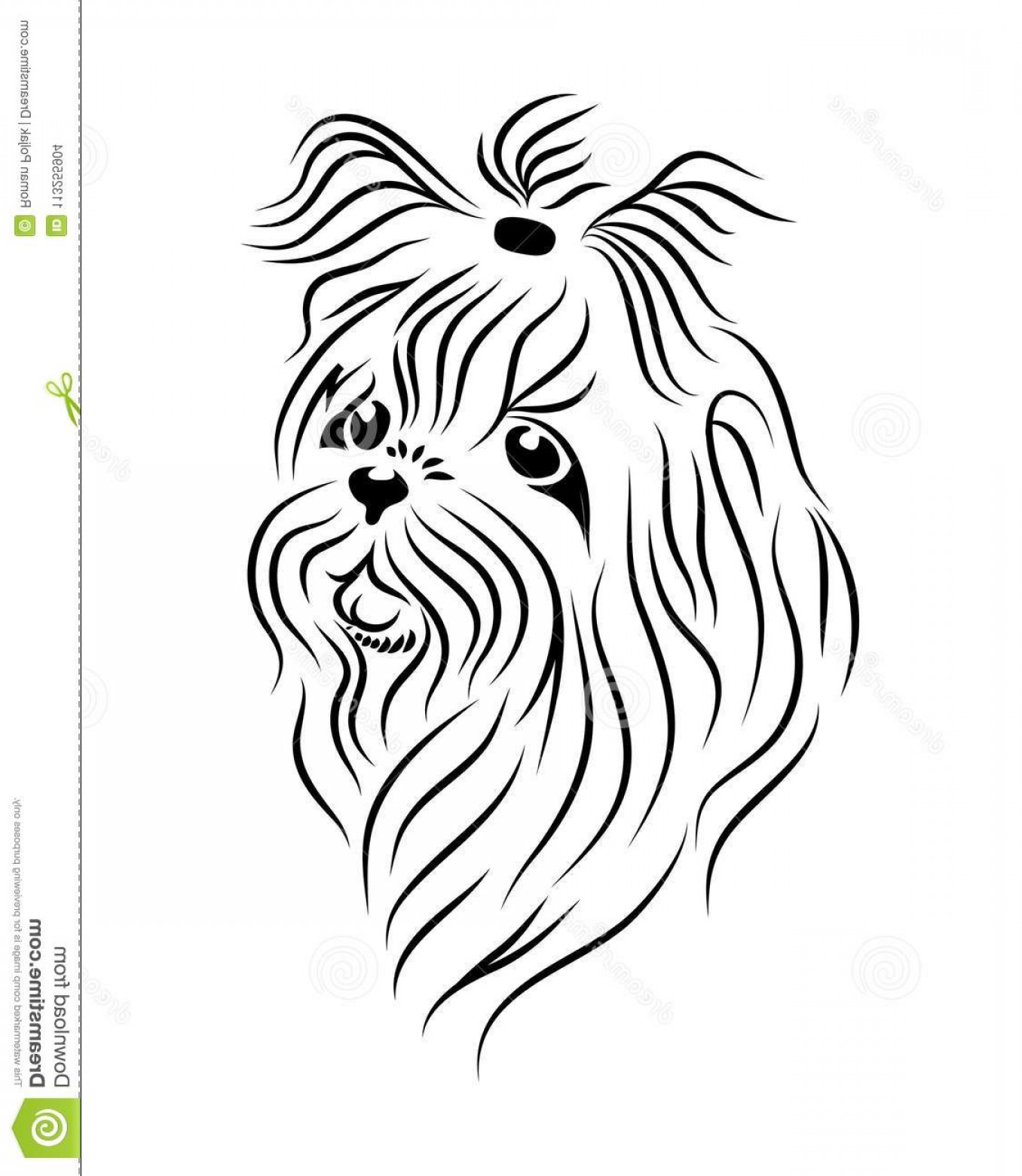Shih Tzu Vector Siluete: Shih Tzu Dog Line Art Tribal Freehand Vector Illustration Print Pod Sites Coloring Books Shih Tzu Dog Line Art Tribal Image