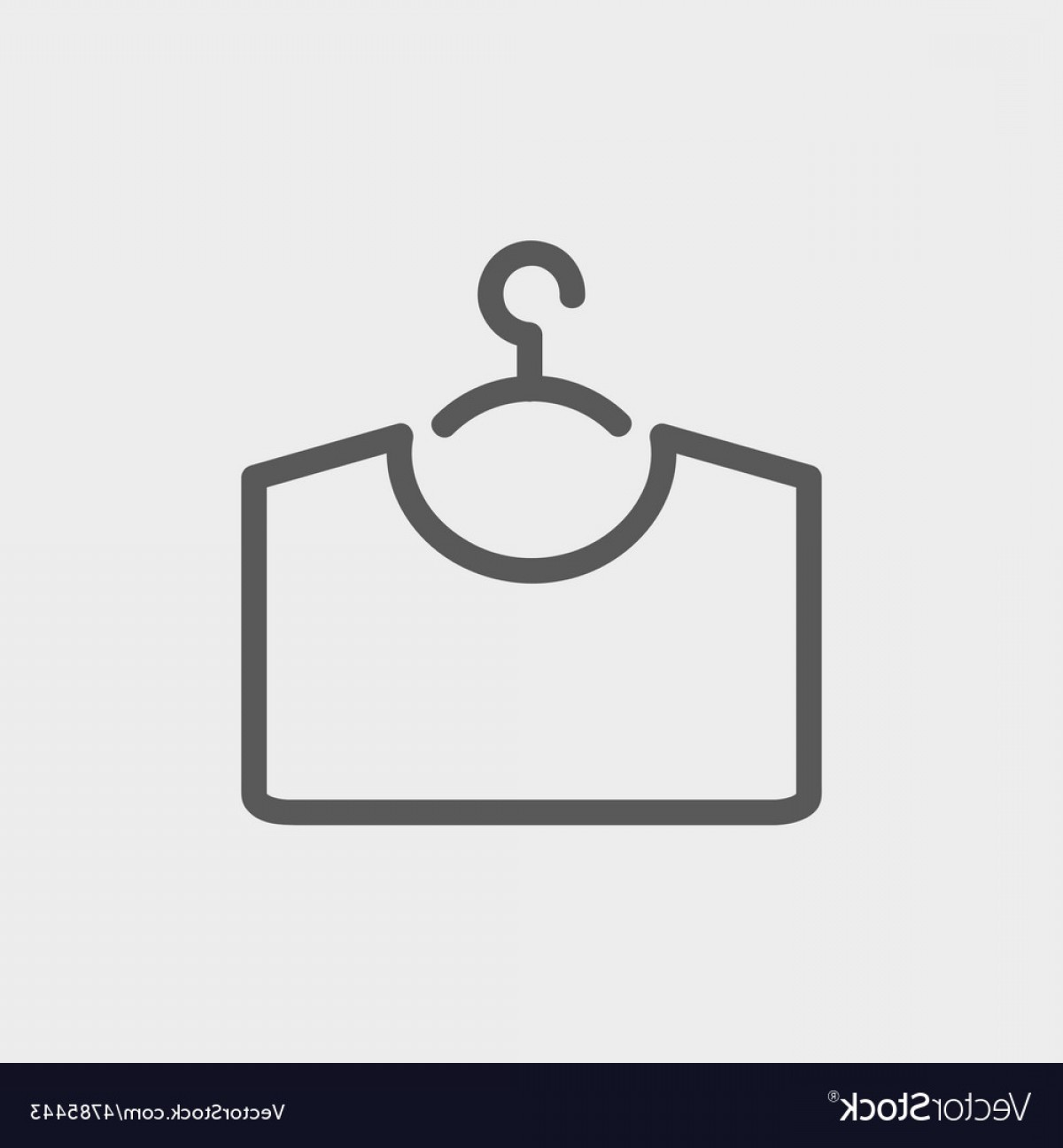 Shirt Hanger Icon Vector: Shirt On Hanger Thin Line Icon Vector