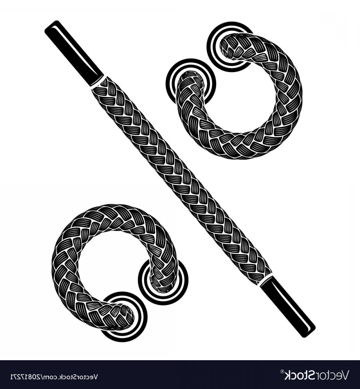 Vector Shoe Lace: Shoes Laces Icon Simple Style Vector