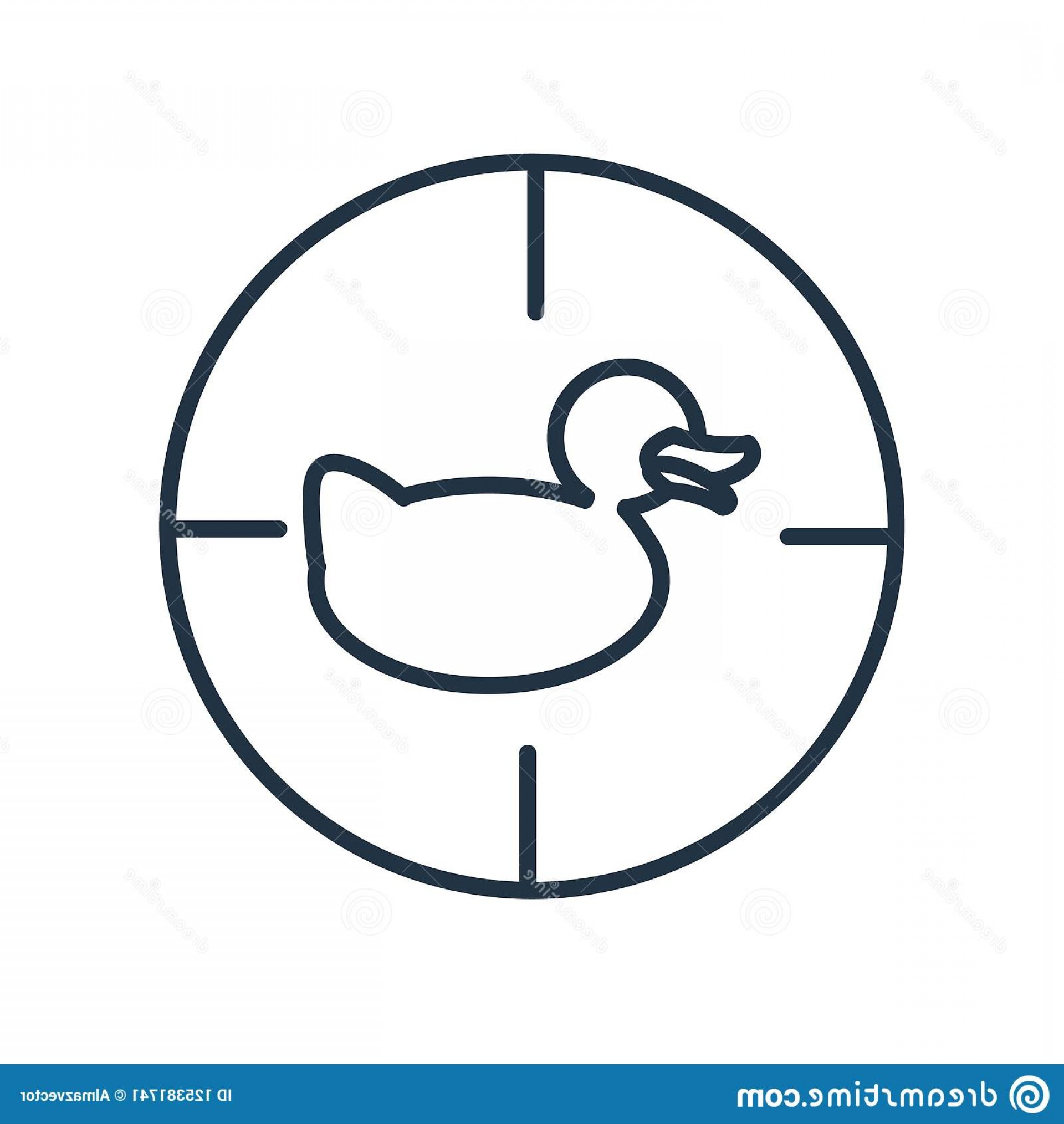 Shot Duck Outline Vector: Shoot Duck Icon Vector Isolated White Background Shoot Duck Shoot Duck Icon Vector Isolated White Background Shoot Duck Image