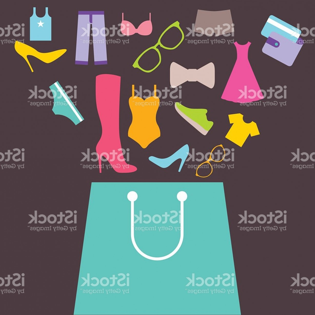 Purchase Vector Art: Shopping Bag With Purchase Gm