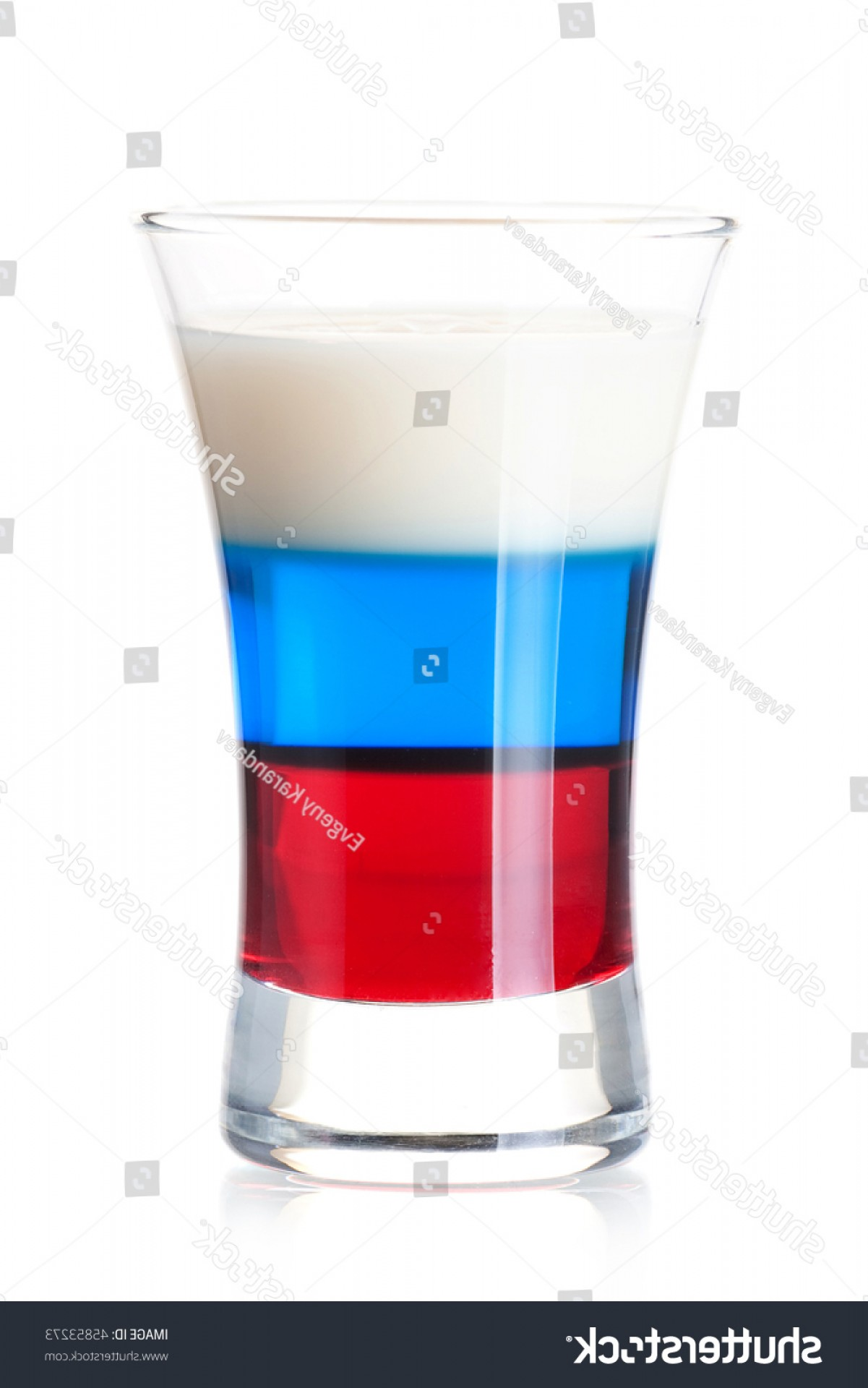 Vector Oyster Shooter: Shot Cocktail Collection Russian Flag Alcohol