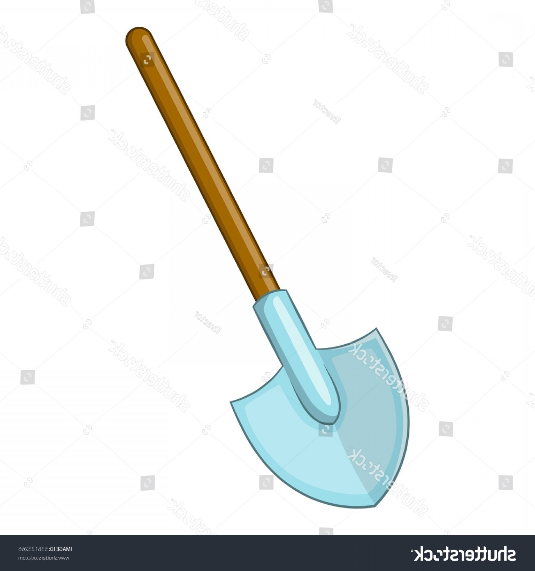 Shovel Vector: Shovel Icon Cartoon Illustration Vector Web
