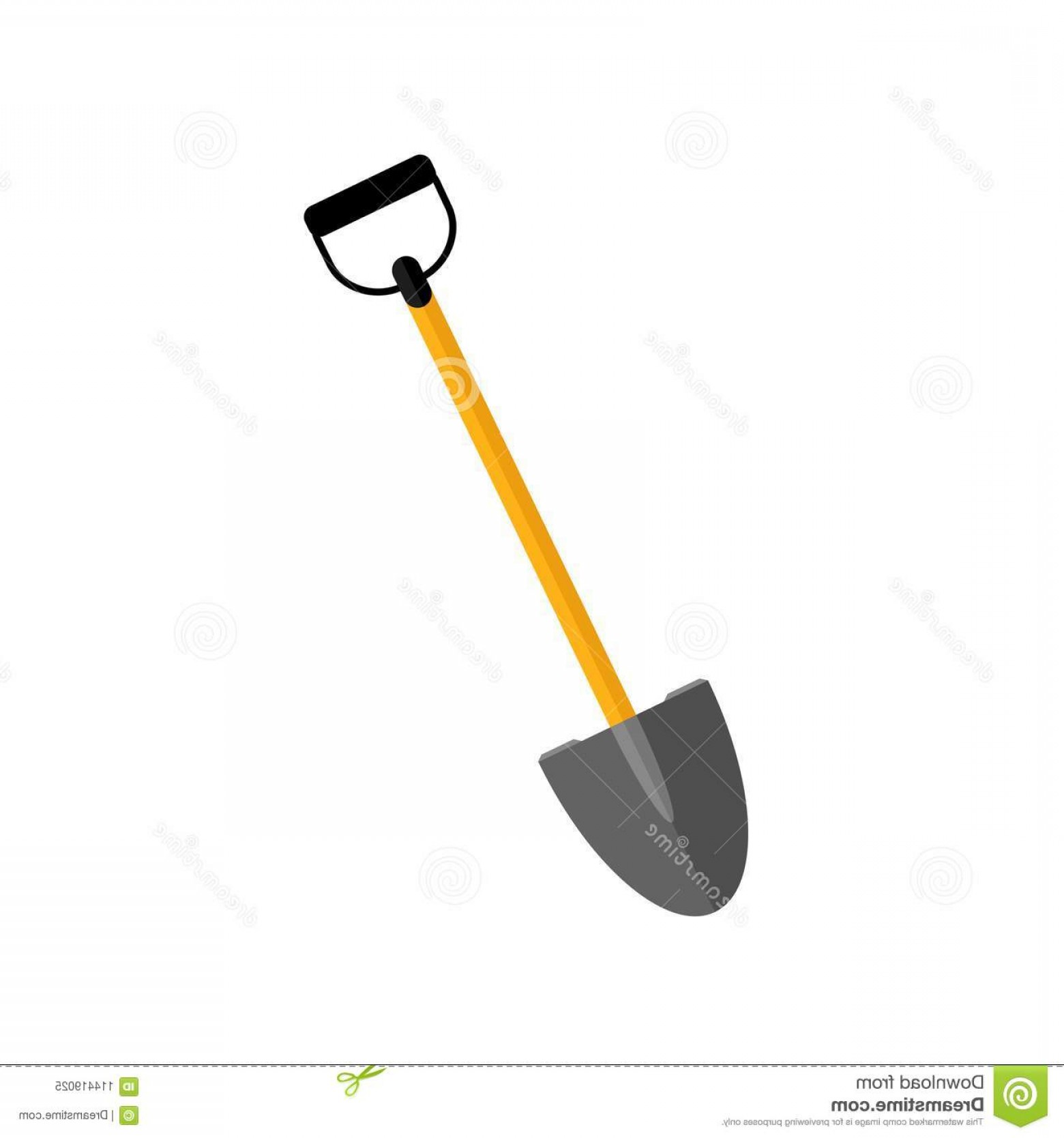 Shovel Vector: Shovel Spade Icon Isolated White Background Garden Tool Equipment Farm Spring Work Vector Flat Design Shovel Spade Icon Image