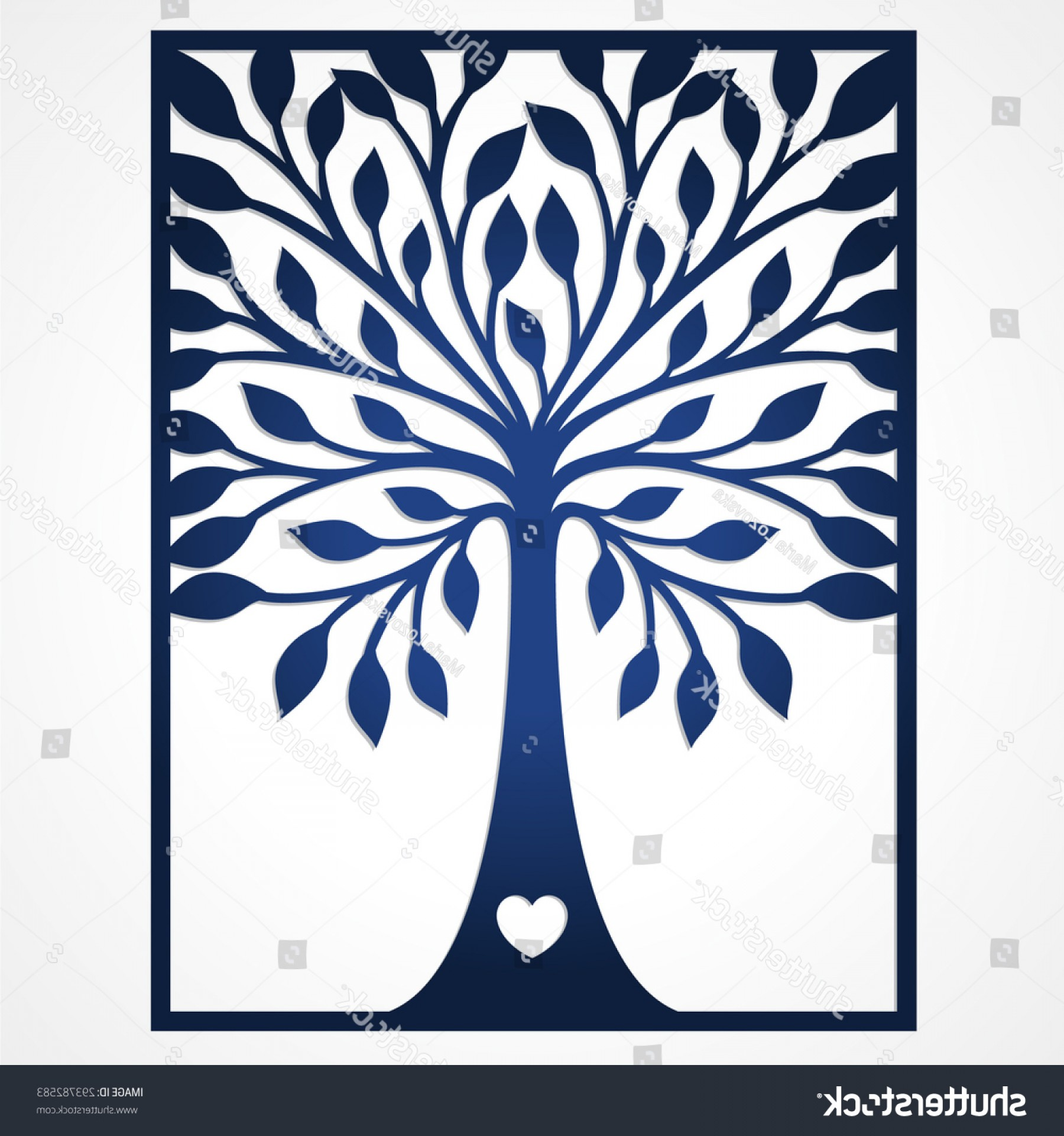 Wood Cutting Vector: Shutterstock Abstract Frame With Tree May Be Used