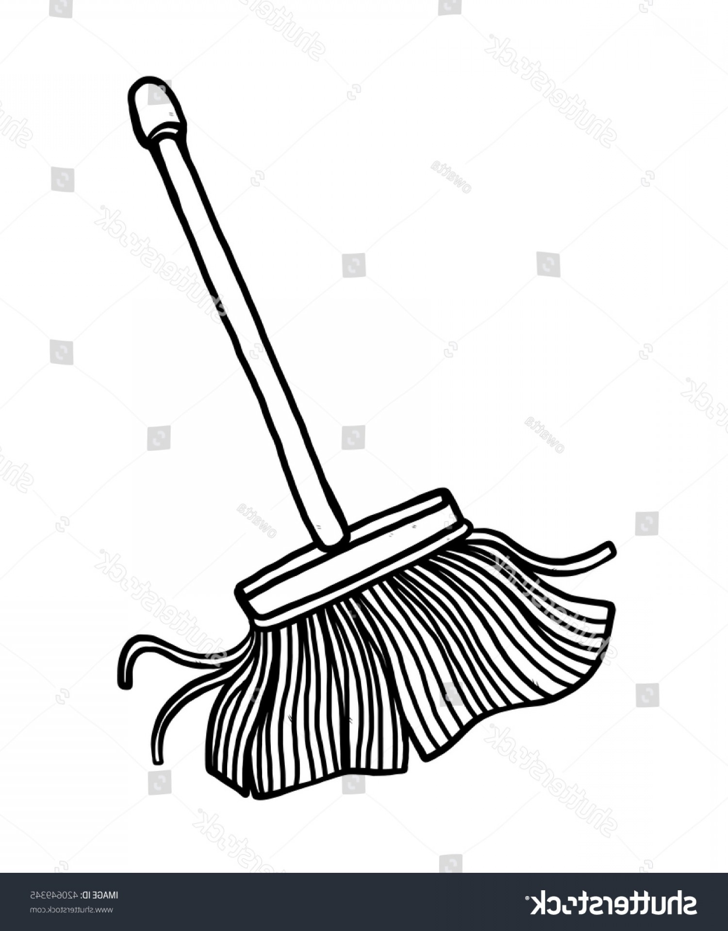 Vector Mop Flower: Shutterstock Mop Cartoon Vector And Illustration