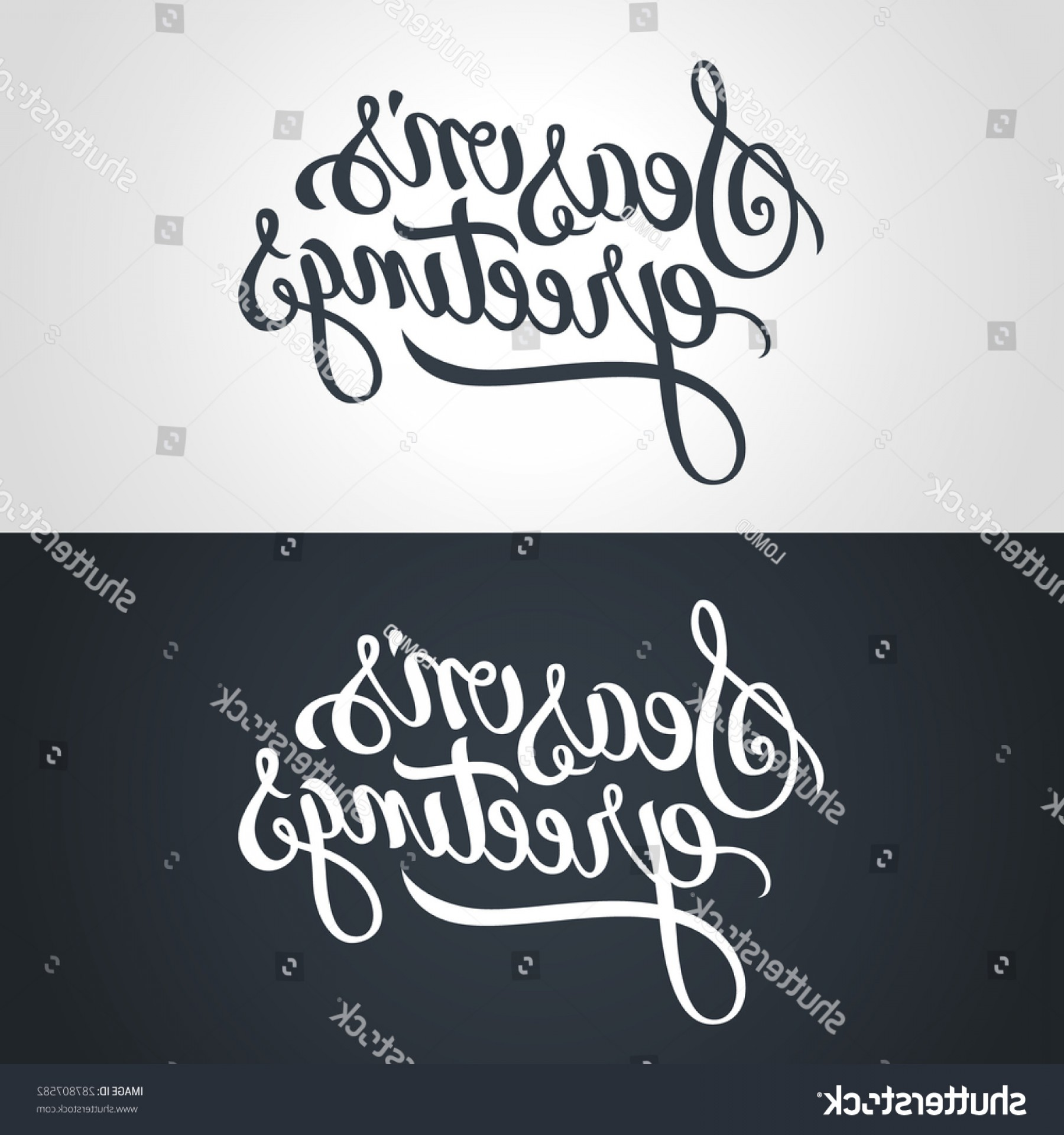 Season S Greetings Vector Free: Shutterstock Seasons Greetings Hand Lettering