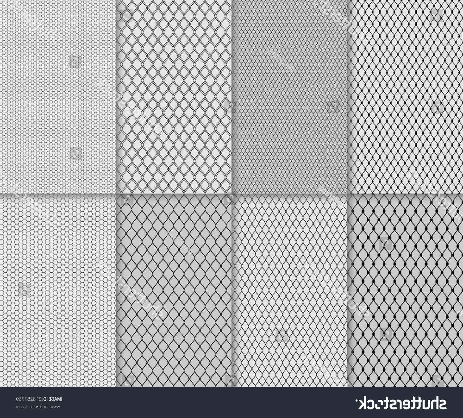 Tulle Black Lace Pattern Vector: Shutterstock Set Of Abstract Seamless Lace And Tulle