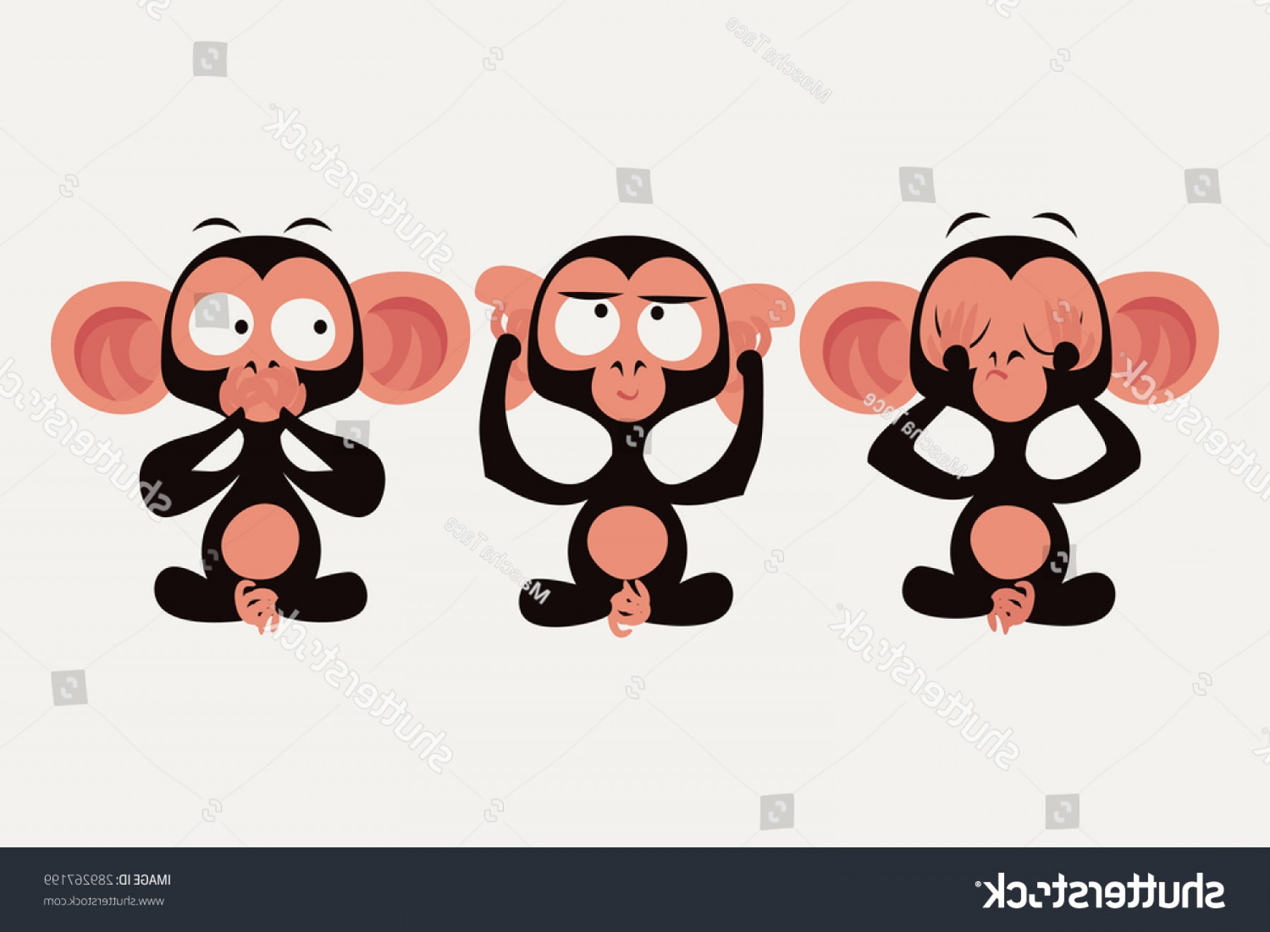 Cool Evil Vectors: Shutterstock Three Wise Monkeys Vector Character