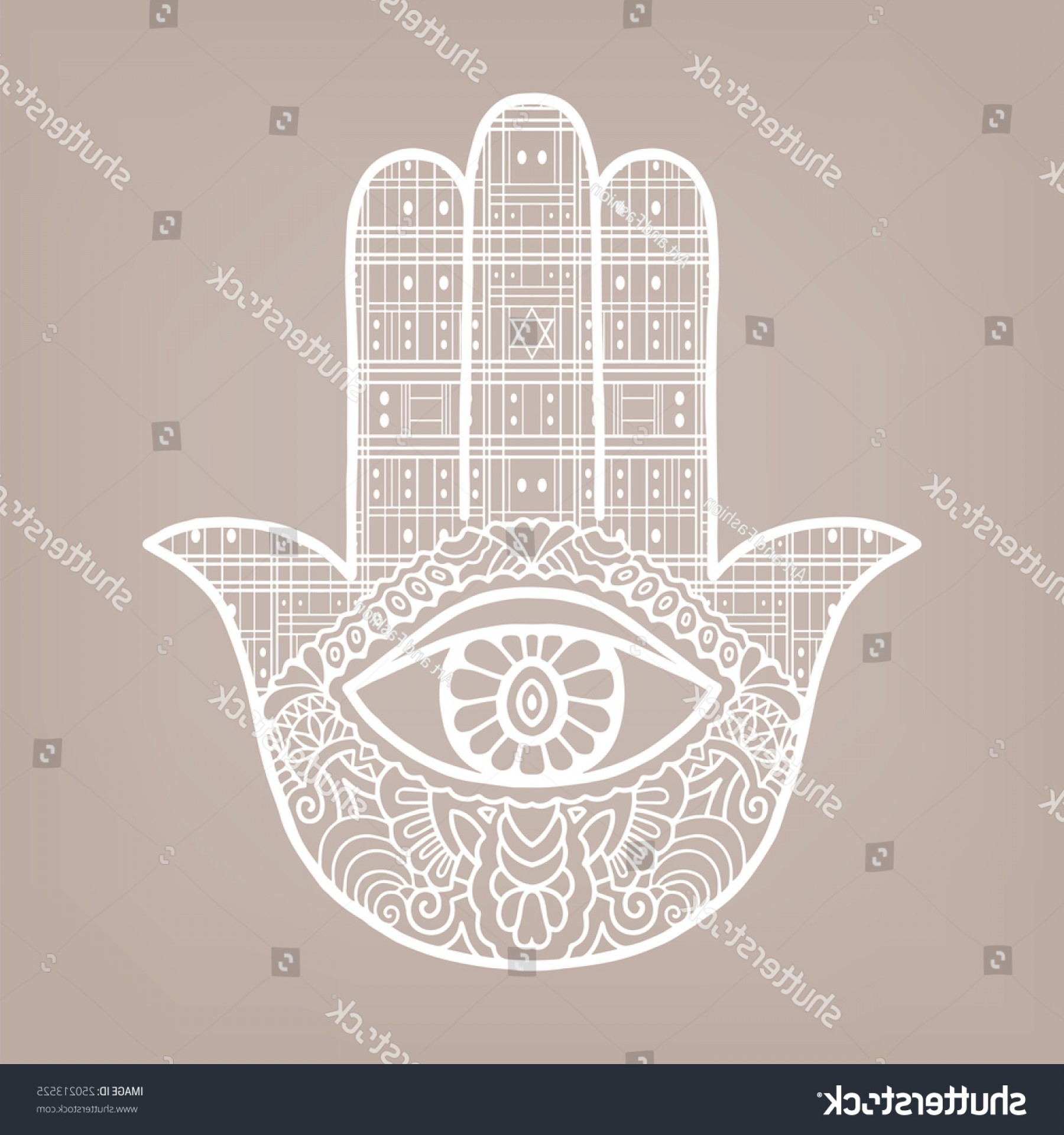 Vector Boho Arrow Strength: Shutterstock Vector Boho Hamsa Hand Protection