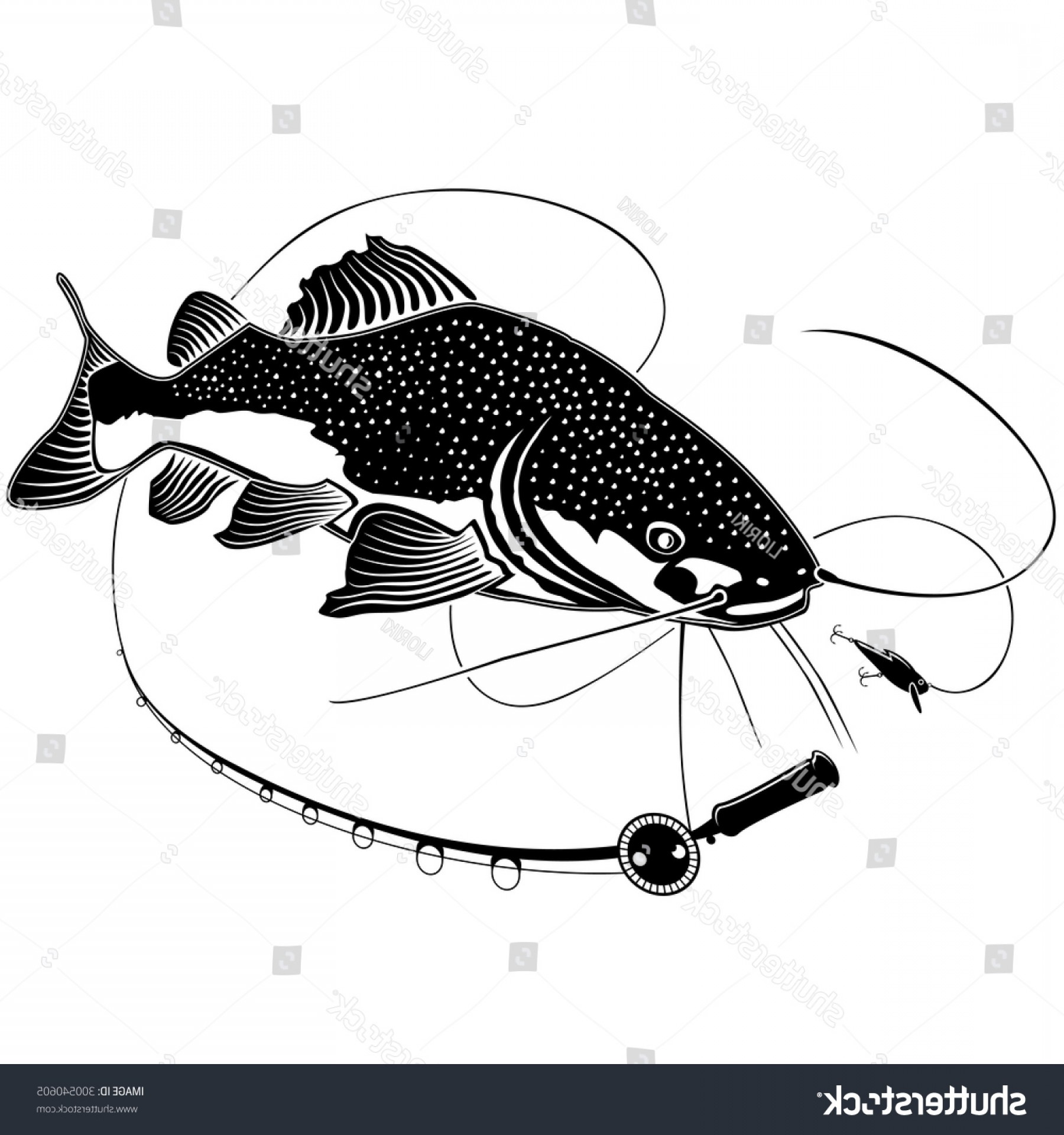 Catfish Vector Logo: Shutterstock Vector Illustration Of Catfish Vector