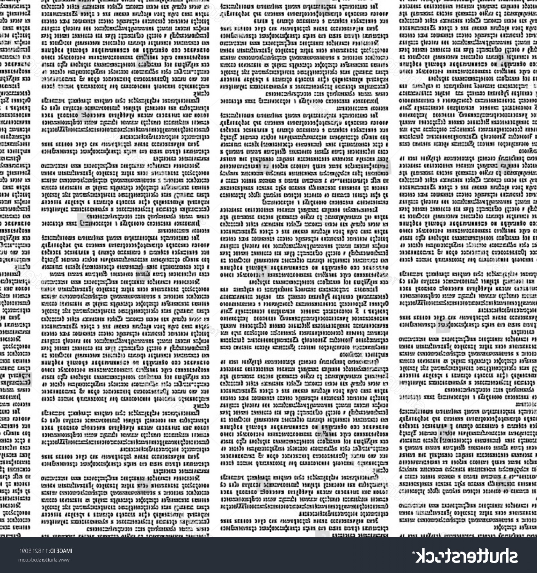 Ripped Black And White Vector: Shutterstock Vector Seamless Pattern With Newspaper