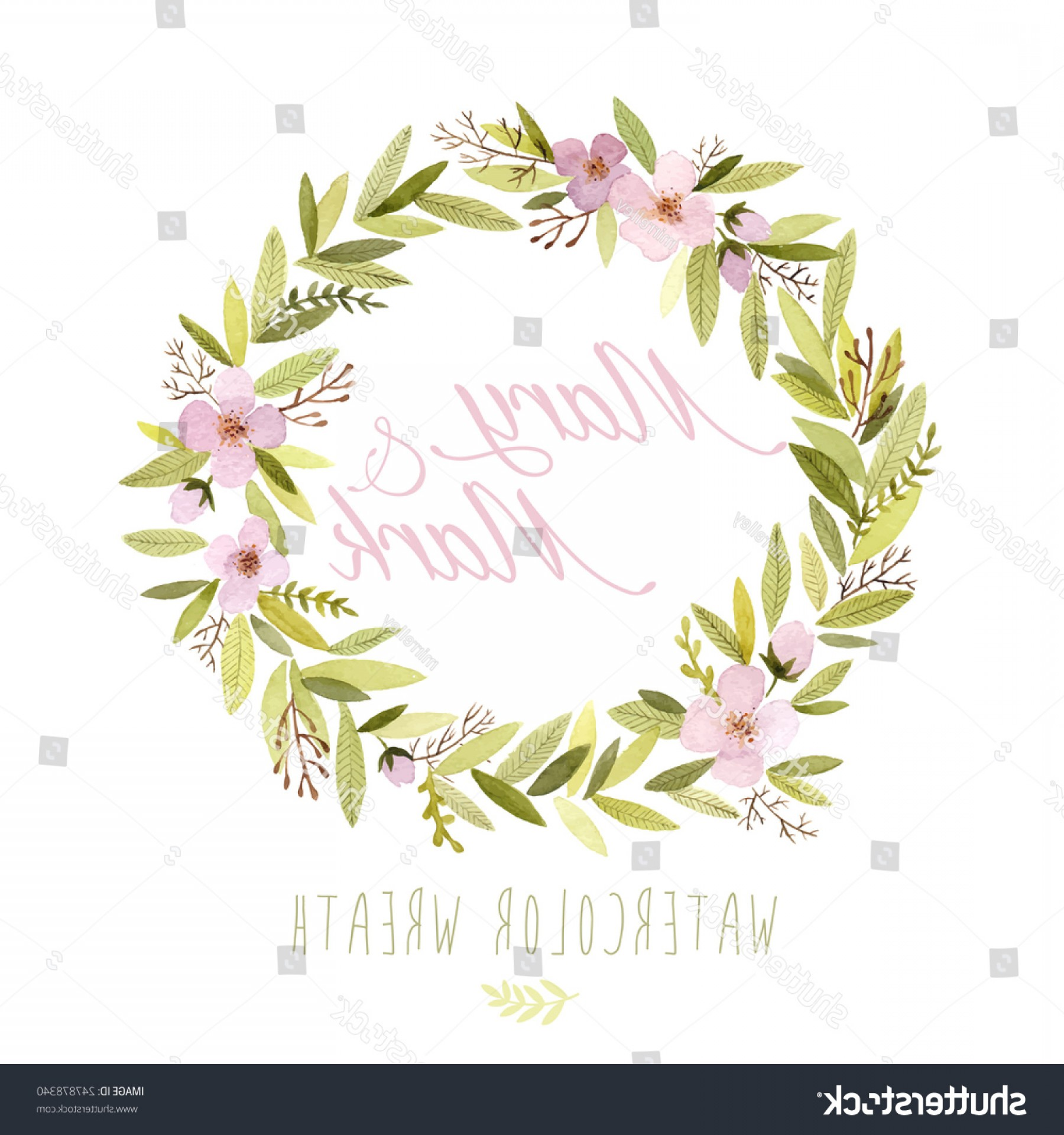 Summer Wreath Free Vector Watercolor: Shutterstock Vector Watercolor Colorful Circular