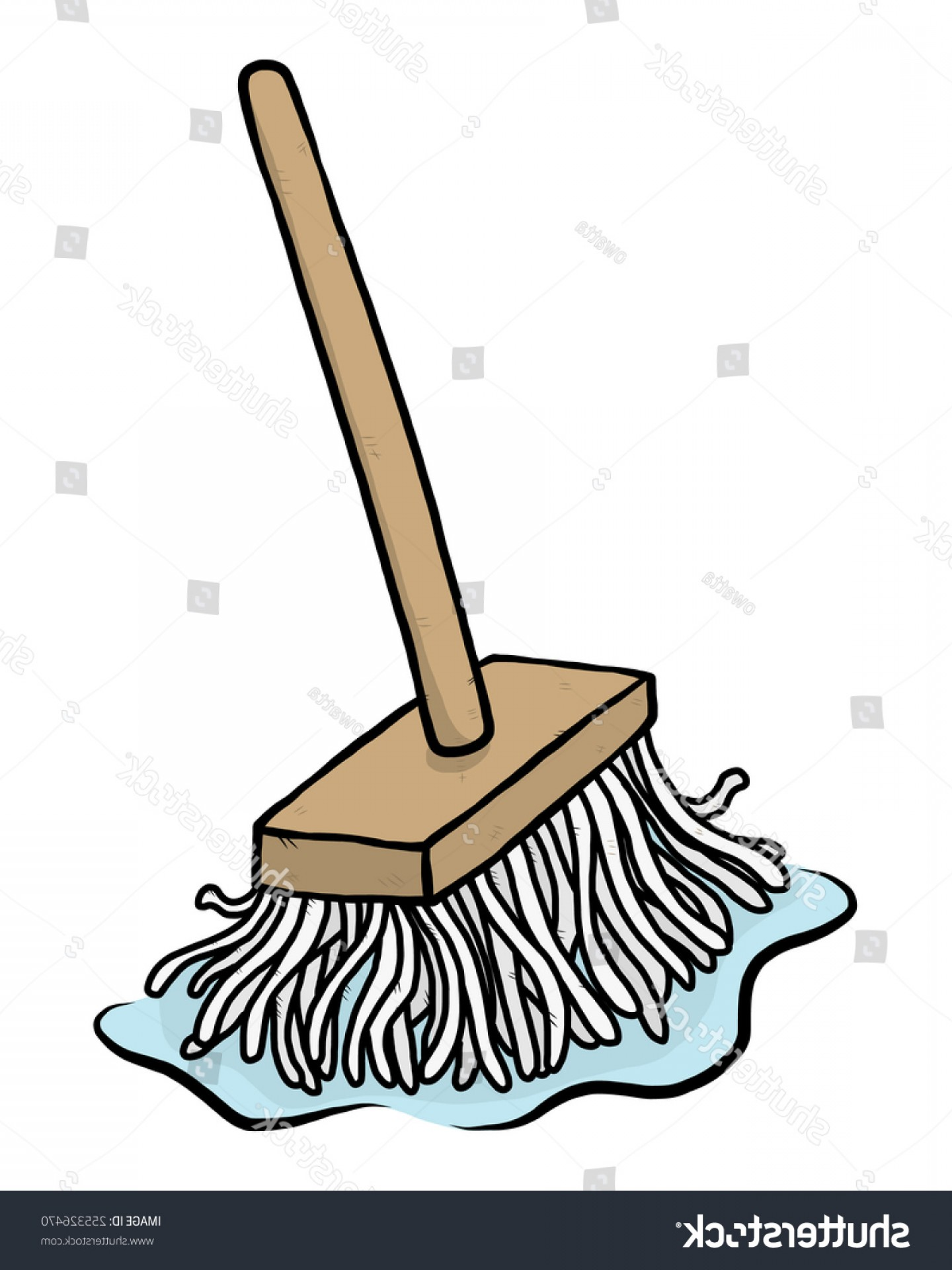 Vector Mop Flower: Shutterstock Wooden Mop Cartoon Vector And
