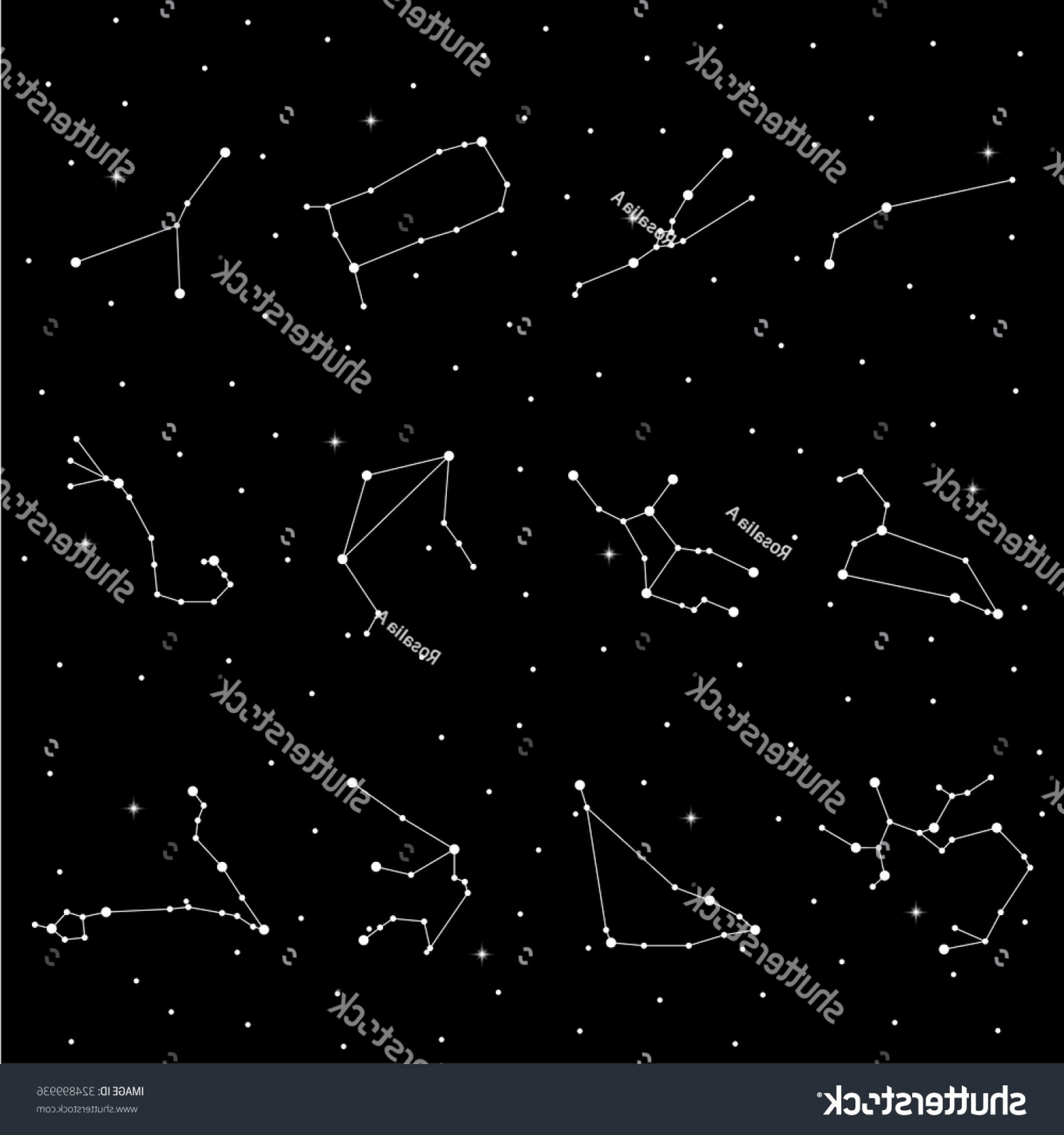 October Zodiac Constellation Vector: Shutterstock Zodiac Signs Vector Illustration