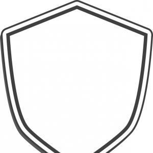 White Shield Vector: Security Shield Line Icon Shield Vector Icon Isolated On White Flat Thin Outline Gm