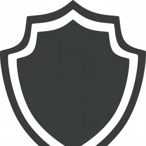 White Shield Vector: Photostock Vector Shield Icon Simple Illustration Of Shield Vector Icon For Web