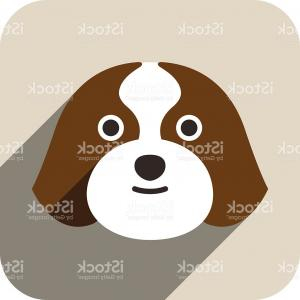 Shih Tzu Vector Cartoons: Cartoon Character Shih Tzu Dog With Big Bones Gm
