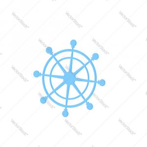 Helm Wheel Vector Stock Com: Ship Steering Wheel Vector