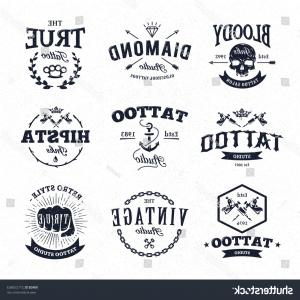 Tattoo Studio Logo Vector: Shutterstock Vector Set Of Cool Tattoo Studio Logo