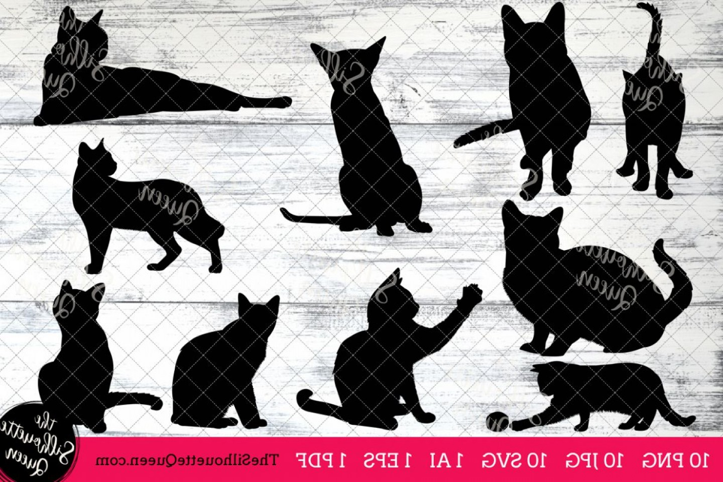 Siamese Cat Vector Transparent Background: Siamese Cat Silhouette Clipart Clip Art Ai Eps Svgs Jpgs Pngs Pdf Siamese Cat Clip Art Clipart Vectors Commercial And Personal Use