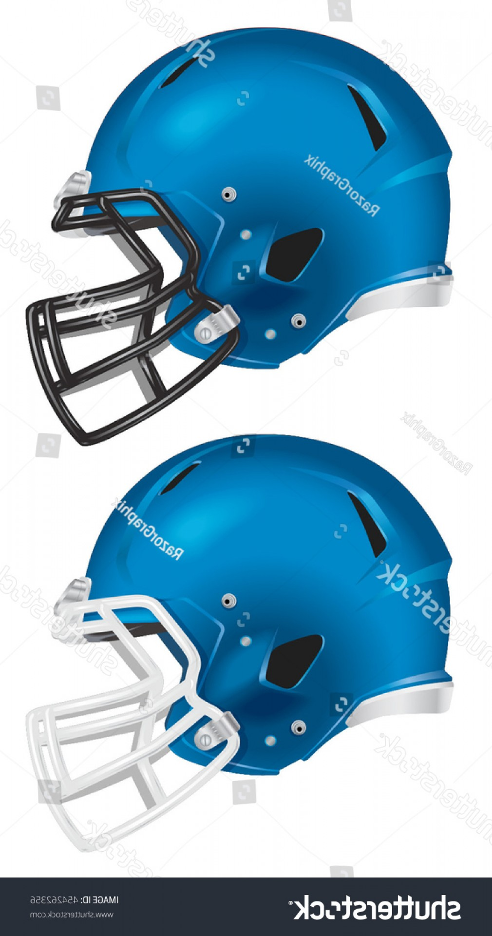 Seahawks Helmet Vector: Side View Blue Football Helmet Vector