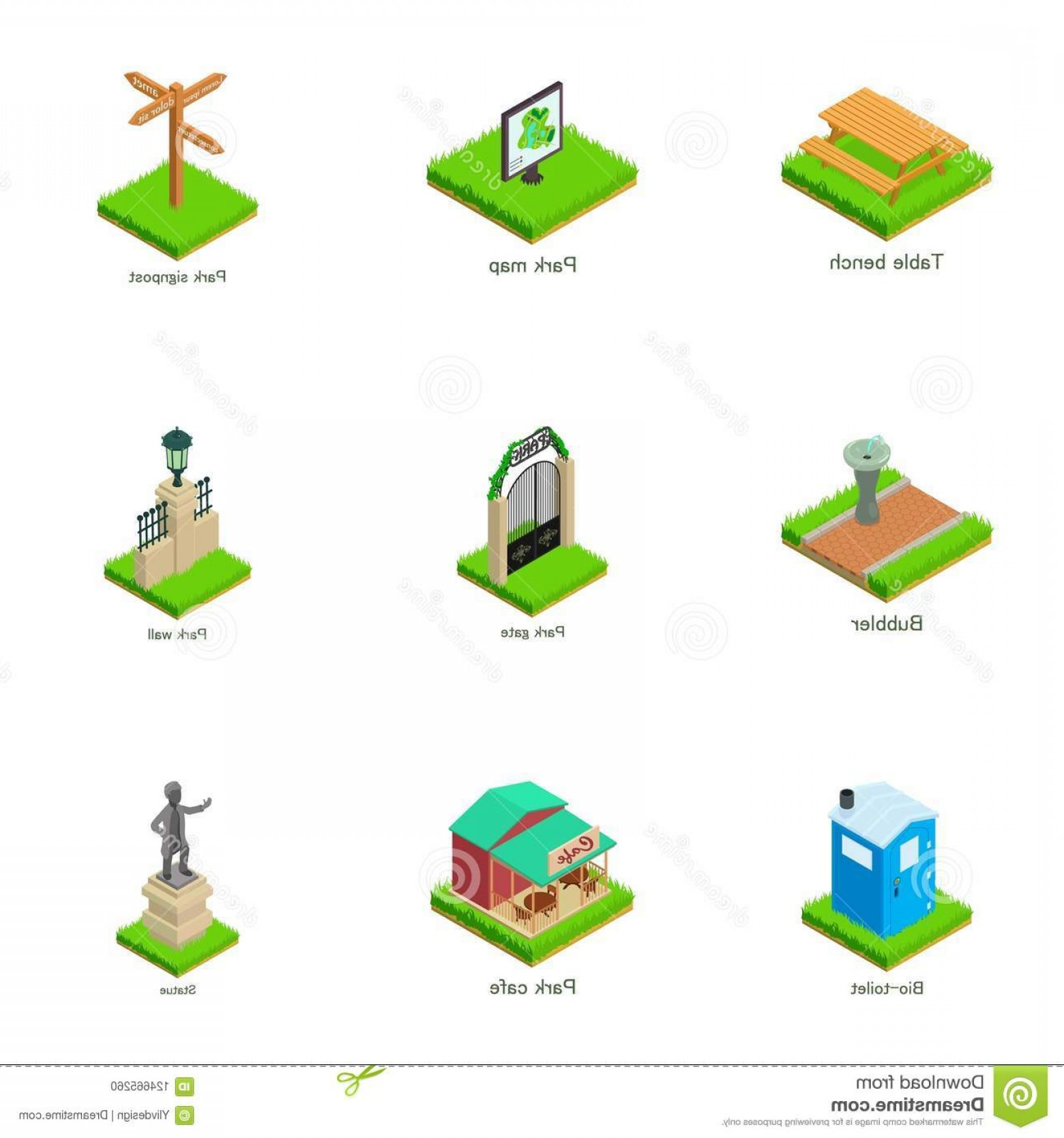 Belgium Theatre Vector Icons: Sights Town Icons Set Isometric Style Sights Town Icons Set Isometric Set Sights Town Vector Icons Web Image