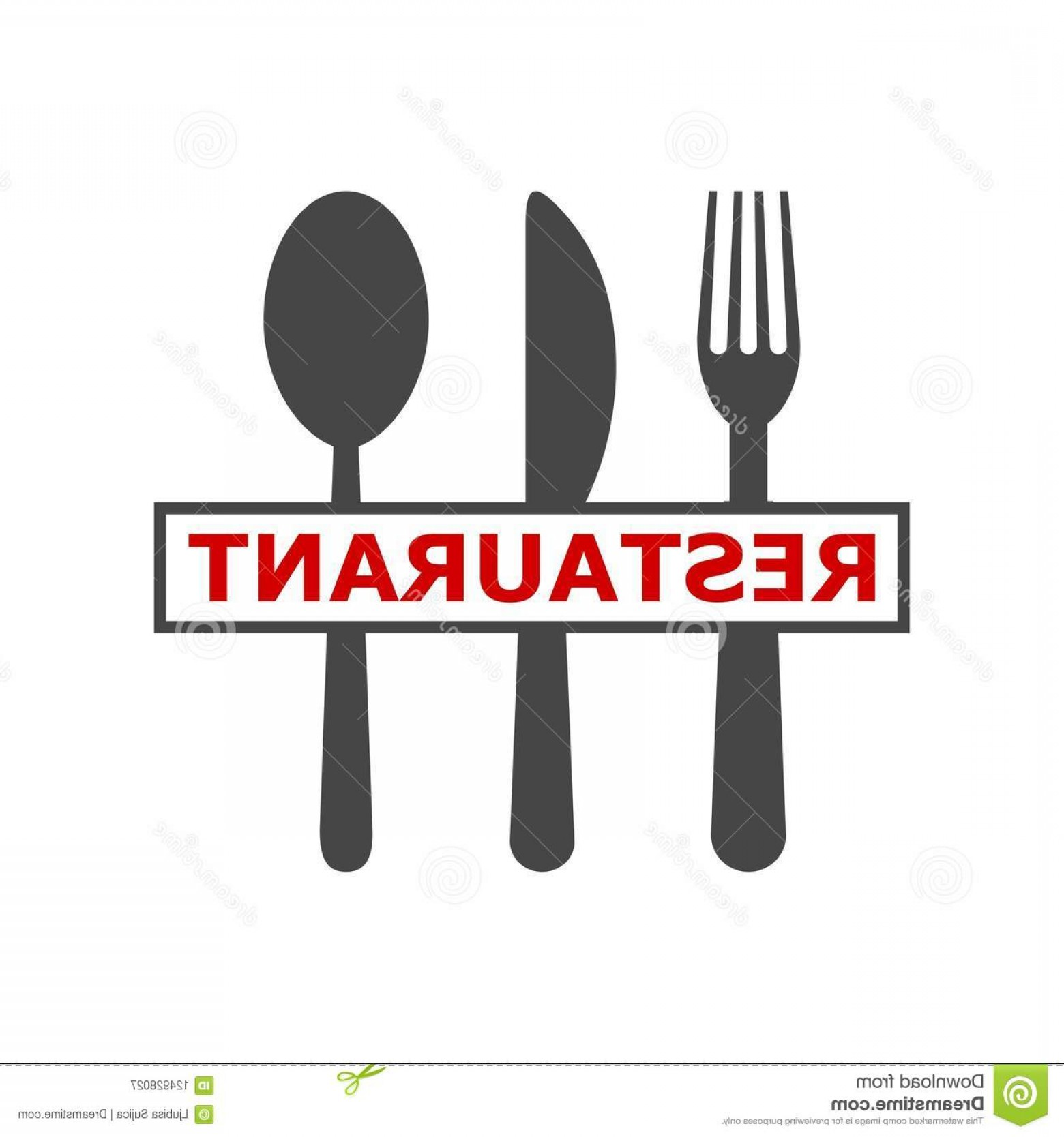 Modern Knife Fork And Spoon Vector Logo: Sign Spoon Fork Knife Besteck Logo Logo Modern Restaurant Sign Spoon Fork Knife Besteck Logo Logo Modern Image