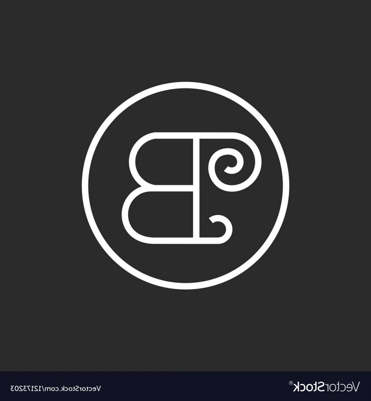 BBB Logo In Vector Form: Sign Vintage Of The Letter B In A Straight Line Vector