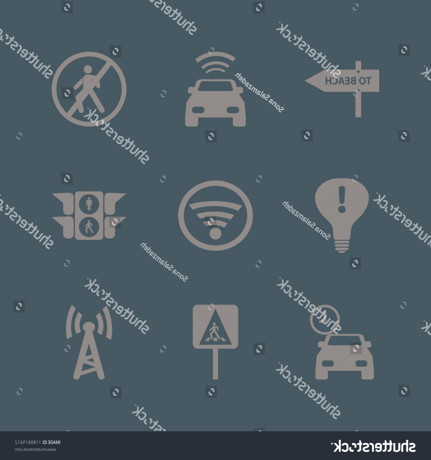 Vector Signal Direction: Signal Icon Vector Icons Set Pedestrian