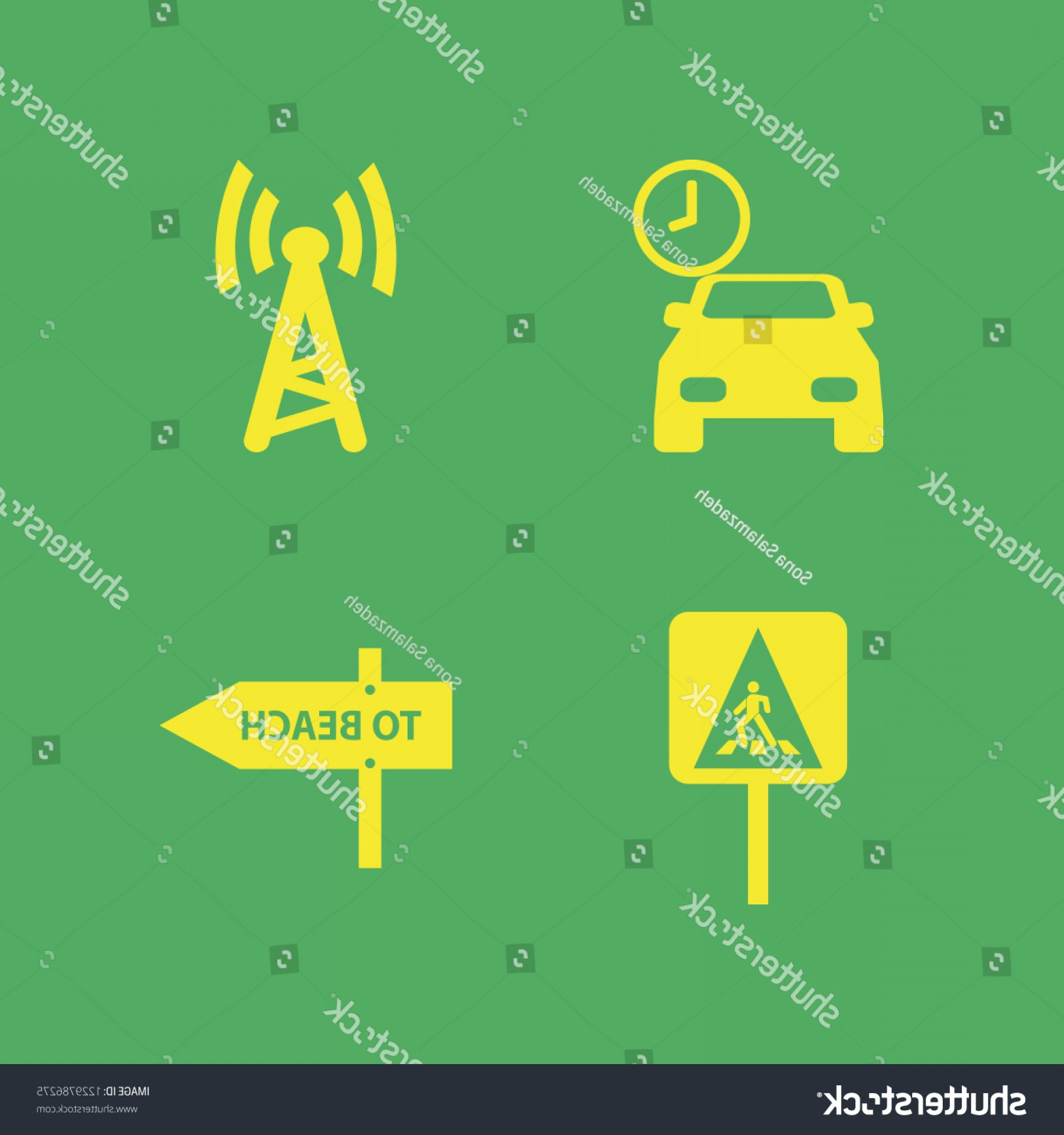 Vector Signal Direction: Signal Icon Vector Icons Set Wi