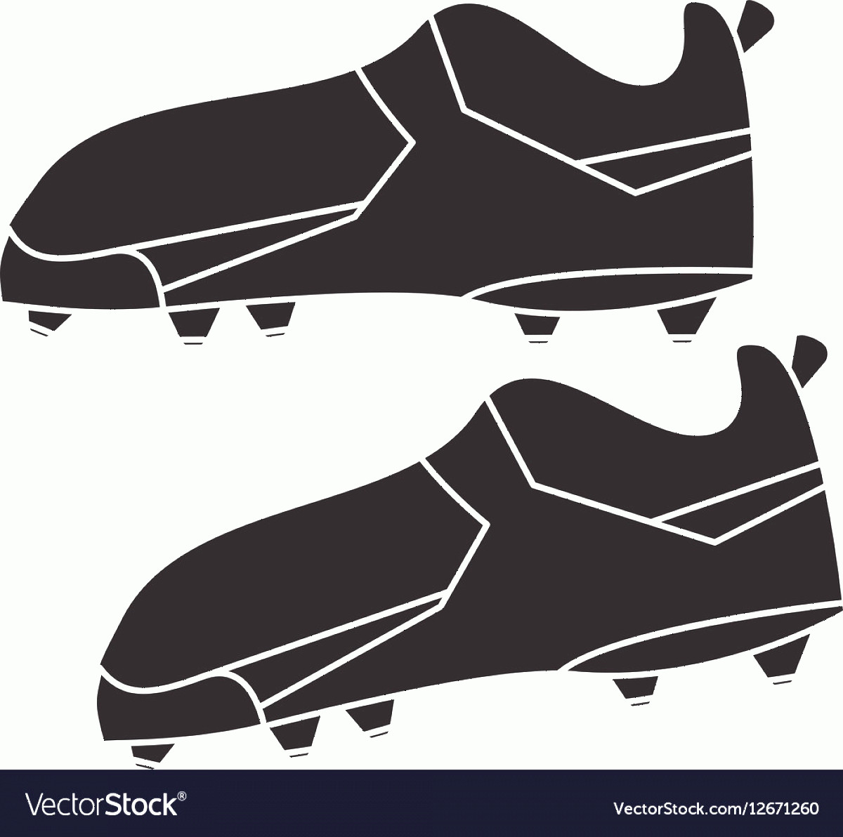 Football Laces Vector Silhouette: Silhouette American Football Boot Shoes Spiked Vector